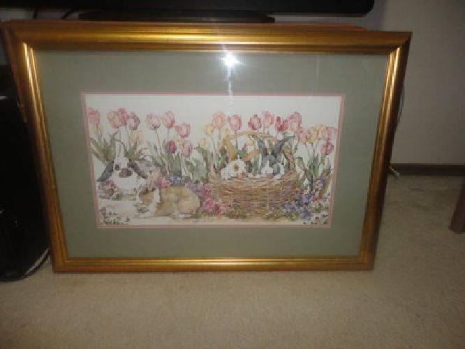 $20 very pretty golden frame painting (Edmond/OKC)