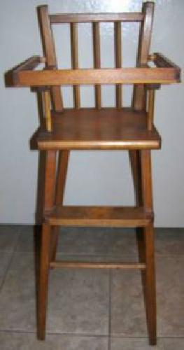 $20 VINTAGE 1960 s HIGH CHAIR for DOLL ALL WOOD