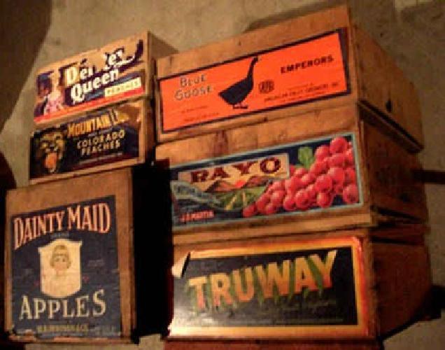 20 Vintage Wood Beer Fruit Pepsi Crates For Sale In Minneapolis