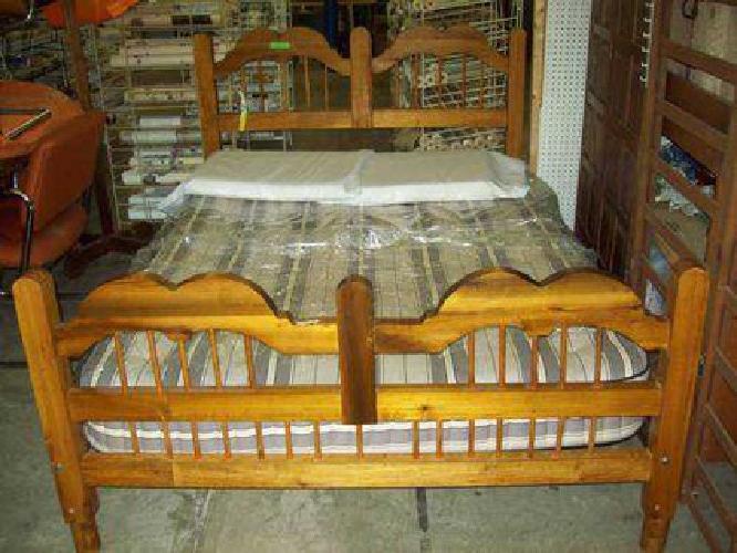 $210 bed size full headboard,footboard,riels, slats matress box springs