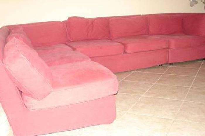 $215 Red Modular Sectional Sofa Pottery Barn