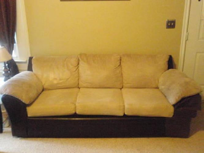 $225 Ashley Furniture Suede & Leather couch and love
