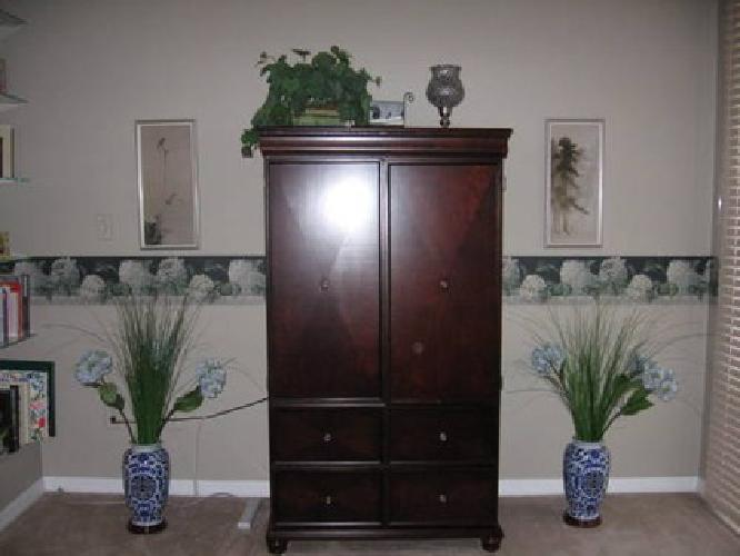 $225 Bombay Company Emissary Entertainment Center TV Cabinet Armoire