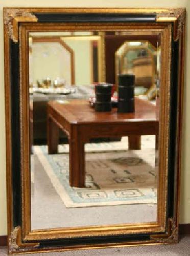 $225 Neo Classic Black&Gold Beveled Mirror 0Bellevue