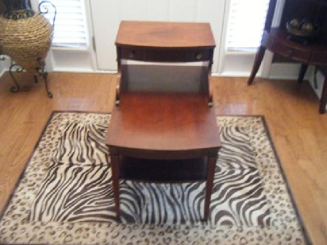 225 pair of mahogony mersman 7384 step end tables with for Furniture 4 less muscle shoals al
