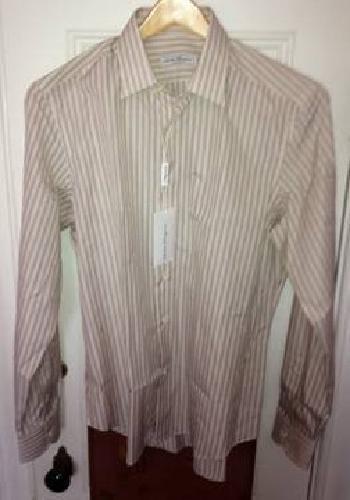 $225 Salvatore Ferragamo Dress Shirt Men's 42L 42 Long