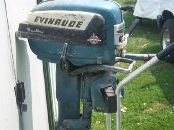 225 Vintage Evinrude Outboard Motor Fastwin 15 For Sale