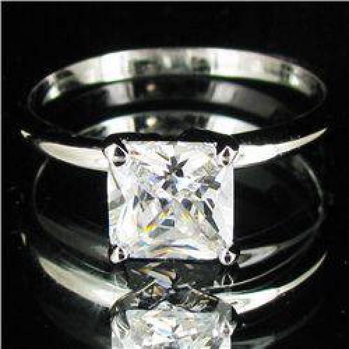 $22 13.2twc Lab Diamond White Gold Vermeil/925 Ring (JEW-003962)