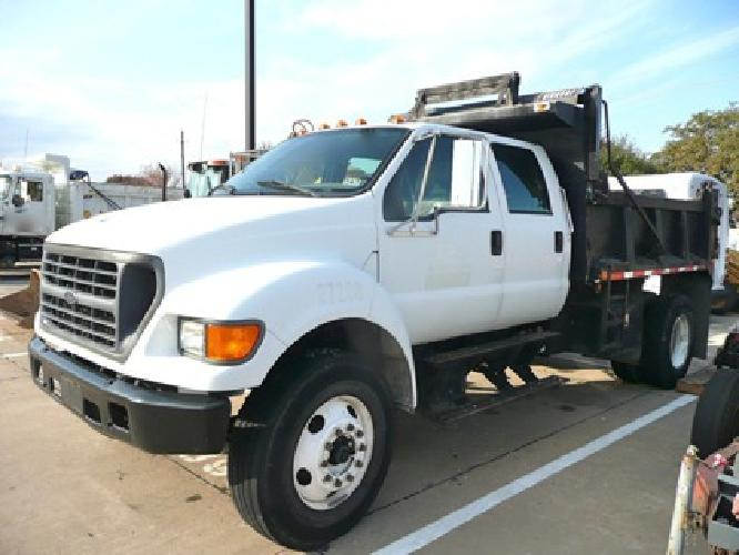 22 900 2000 ford f750 xl crew cab diesel auto dump truck for sale utility tx for sale in dallas. Black Bedroom Furniture Sets. Home Design Ideas