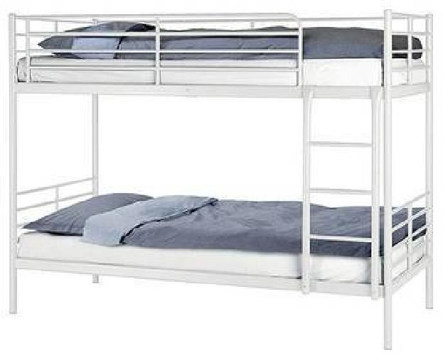 230 Reduced Ikea Tromso White Metal Bunk Bed Amp Mattress