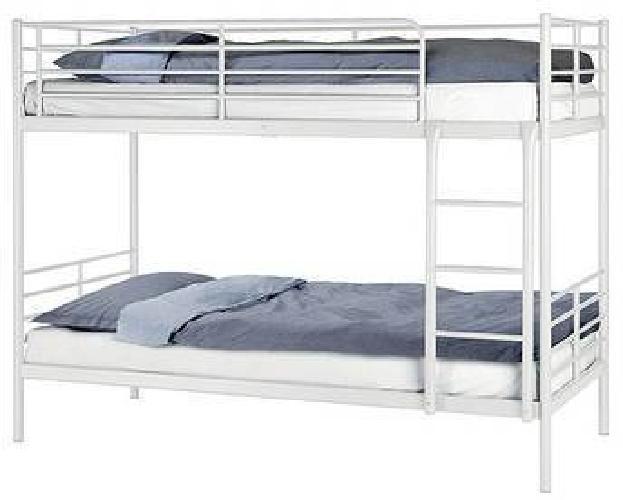 230 Reduced Ikea Tromso White Metal Bunk Bed Amp Mattress