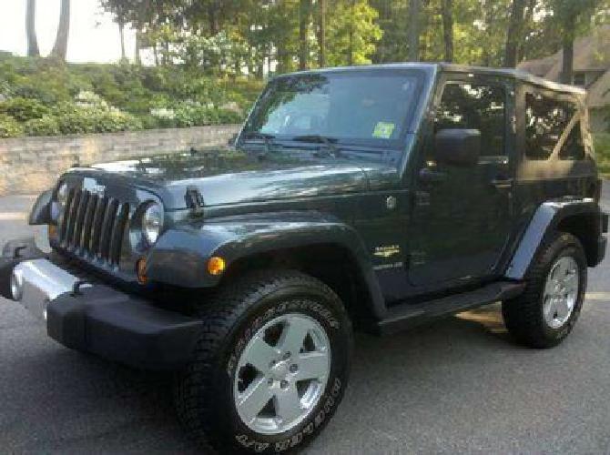 $23,500 2008 Jeep Wrangler Sahara, Steel Blue Metallic, Automatic, Only 10k MI