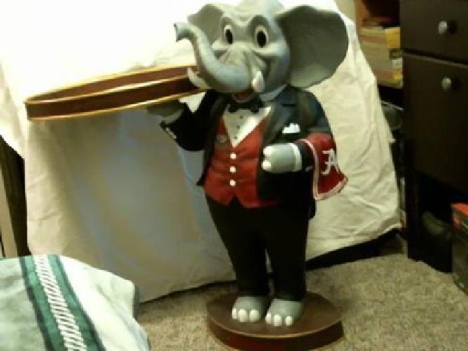 $250 Alabama Football Big AL Statue/Bama Butler End Table.