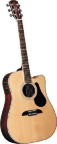 $250 Alvarez ad60sc acoustic electric guitar,gig bag,stand