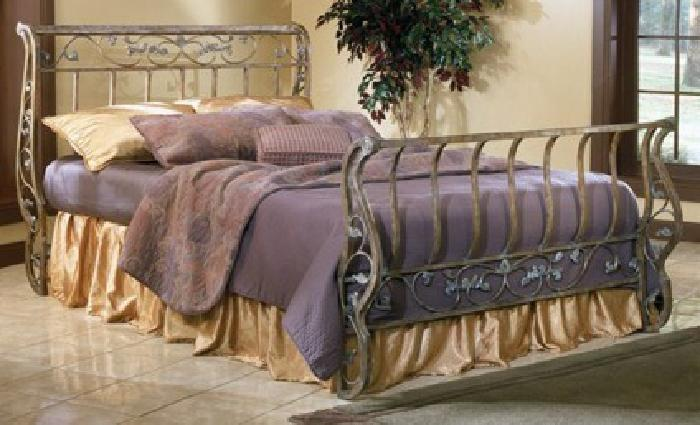 250 Ashley Bittersweet Metal Sleigh Bed Queen For In Laurel