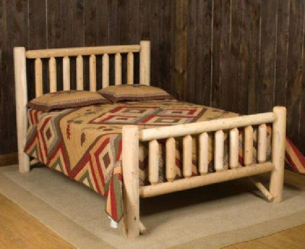 250 Log Cabin Queen Size Bed Frame For Sale In Canyon