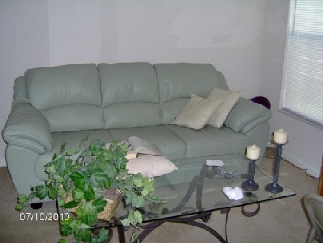 Mint green leather sofa images for Mint green sectional sofa