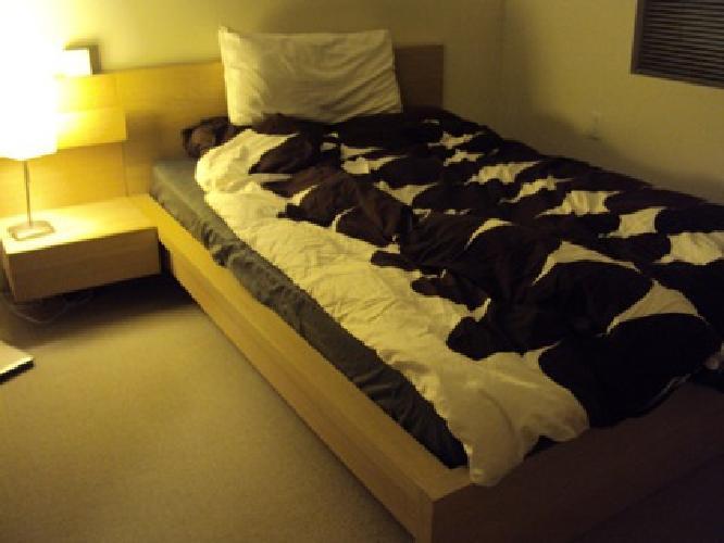 250 obo ikea malm bed frame night table sultan finnvik for Ikea sultan finnvik