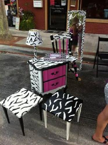 250 Zebra Furniture Hand Painted For Sale In Tarpon Springs Florida Classified