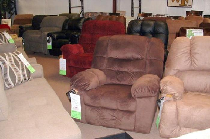 $259.95 Recliners, Large Selection Available, Various Sizes, Great Prices Too