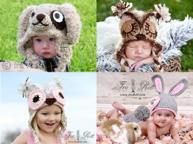 $25 Crochet Animal Hats for all ages