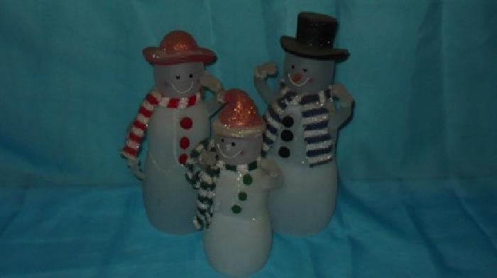 $25 Glass Snow Family