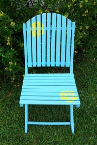$25 Gleeful Blue Garden Chair