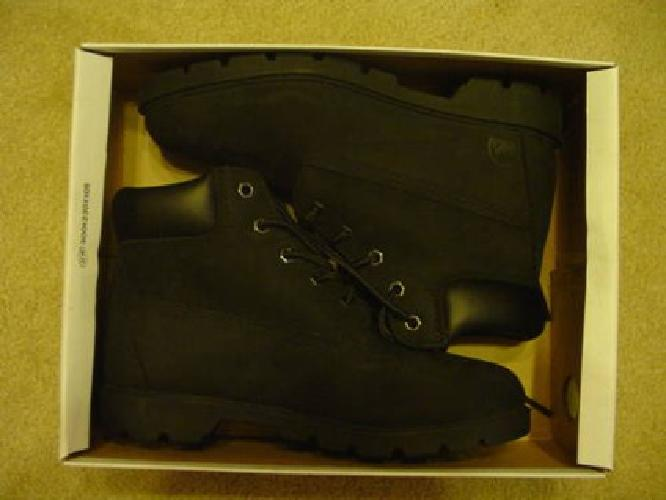 $25 NEW in Box COLORADO Brand Black Brushed Leather BOOTS size 5 Oil Resis