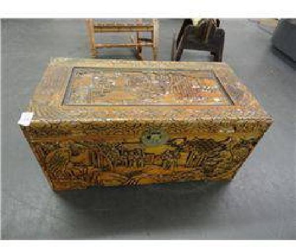 $25 Oriental Carved Chest