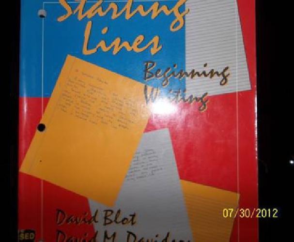 $25 Starting Lines, Beginning Writing