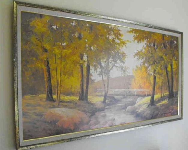 $25 Vintage Wall Art by Russell Moreton Fall Scene ...