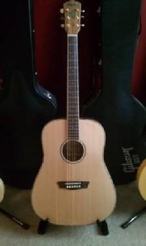 $260 New Washburn WD55S Solid Sitka Spruce Acoustic Dreadnought Koa Guitar