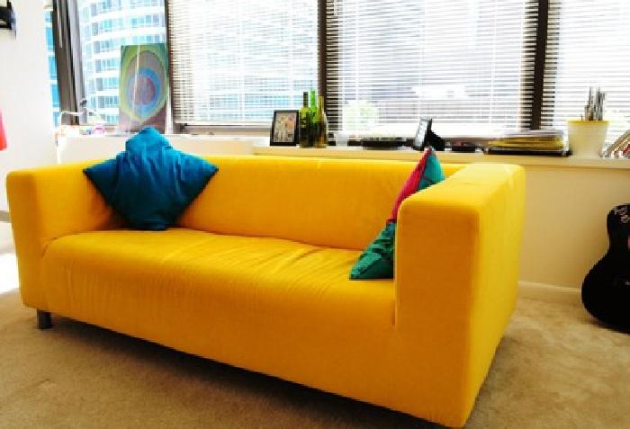 275 Ikea Yellow Couch Love Seat Sofa With Blue