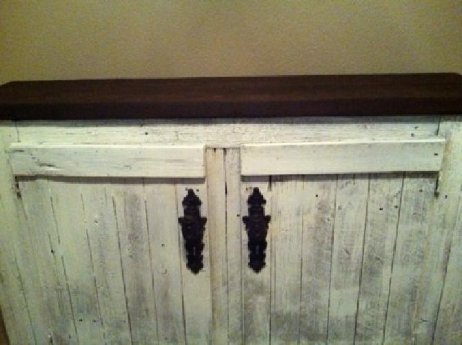 $275 OBO Gorgeous Distressed Cabinet - Could be used indoors or outside