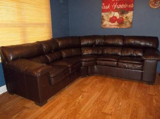 275 Simmons Maverick Sectional Couch In Dark Brown Vinyl