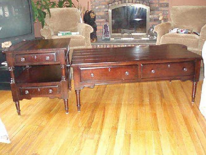 $289 Coffee Table - Broyhill Attic Heirloom Solid Cherry