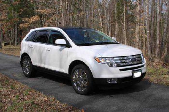 28 900 2010 Ford Edge Pearl White Tan Leather 45k