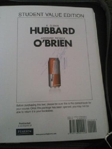 $28 OBO Microeconomics 3rd edition: R. Glenn Hubbard,