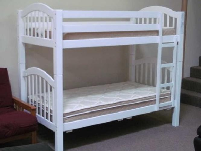 """$299 BEAUTIFUL WHITE or ESPRESSO BUNK BED """"SOLID WOOD"""" NEW"""