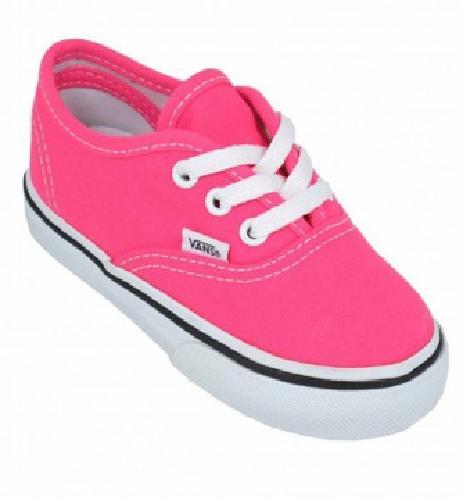 $29.99 Vans Authentic Infants Neon Pink True White