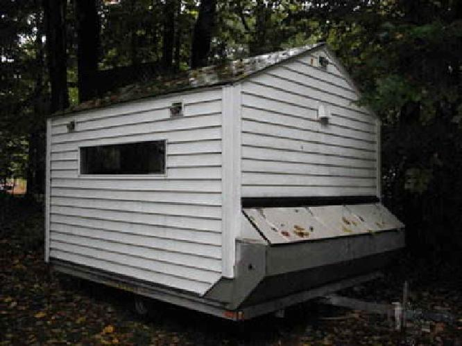 2 000 2001 snowmobile quad trailer ice fish house or shed for Fish house trailer