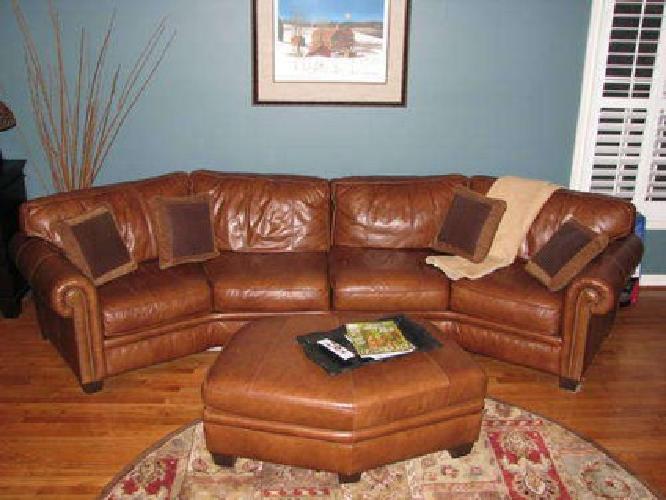 $2000 BERNHARDT Leather Sectional Sofa : bernhardt sectional leather - Sectionals, Sofas & Couches