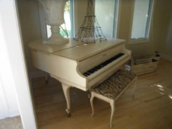 2000 Cream Colored Baby Grand Piano