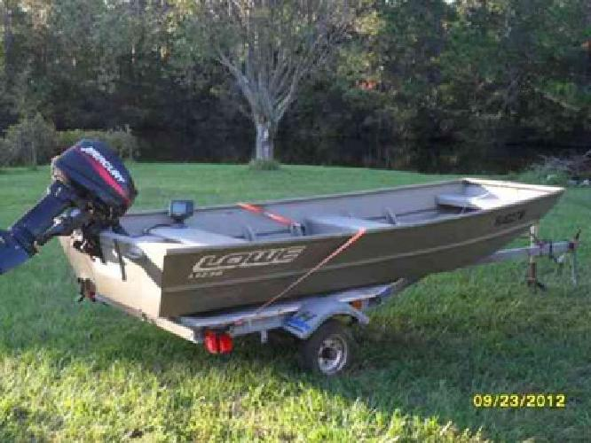 2 100 12 Ft Jon Boat With 9 9 15 Hp Mercury Outboard