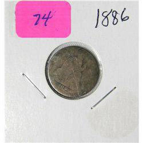 $2 1880's Seated Liberty Dime