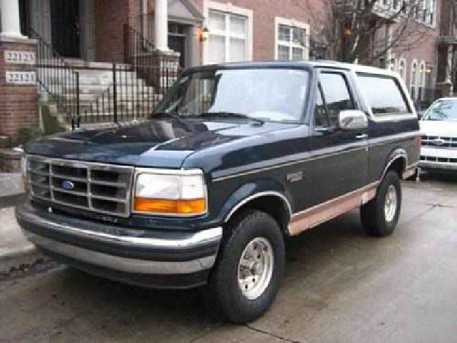 2 500 1994 ford bronco 4x4 eddie bauer edition new price for sale in dearborn michigan. Black Bedroom Furniture Sets. Home Design Ideas