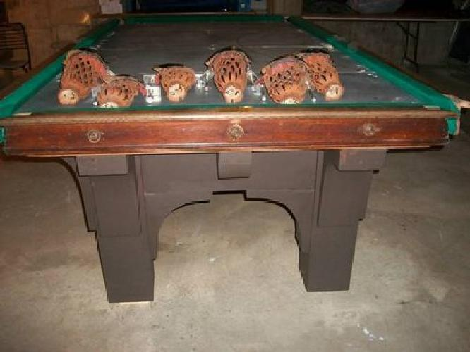 Antique Brunswick St Bernard Mission Pool Table For Sale In - Brunswick mission pool table