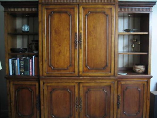 $2,800 Six-piece solid burnished cherry entertainment center
