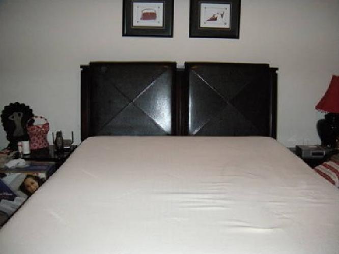 $2,800 Tempur-Pedic Mattress (Queen) with Panel Bed & Headboard