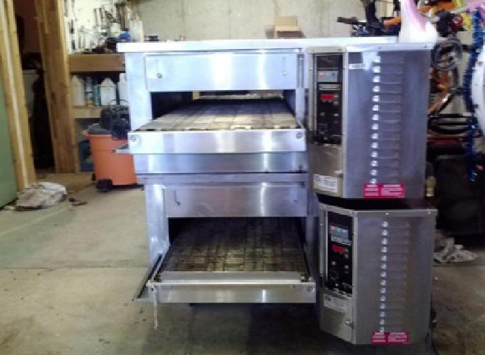 2 Commercial Hobart 18 Conveyor Pizza Ovens - 60,000 BTU's